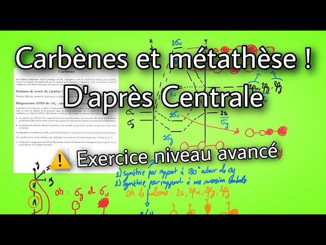 Carbènes et métathèse (exercice difficile)