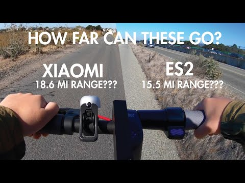 Testing The Range On Ninebot ES2 And Xiaomi M365 Scooter