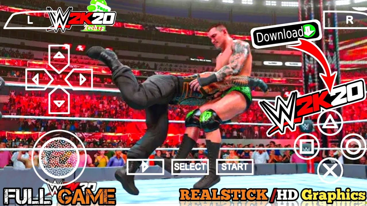 [Full Game] wwe 2k20 for android ppsspp download   wwe 2k20 mod for psp   wwe2k20 ppsspp download