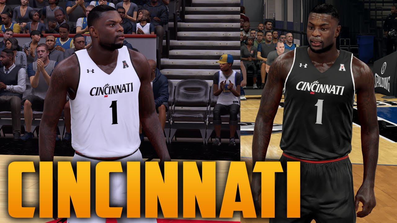 new arrival 07d8c 56b33 NBA 2K16 Cincinnati Bearcats Jersey & Court Tutorial