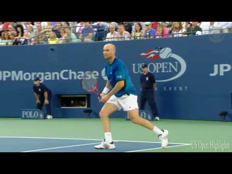 Roger Federer Vs Adre Agassi Highlights   US Open 2005 Final