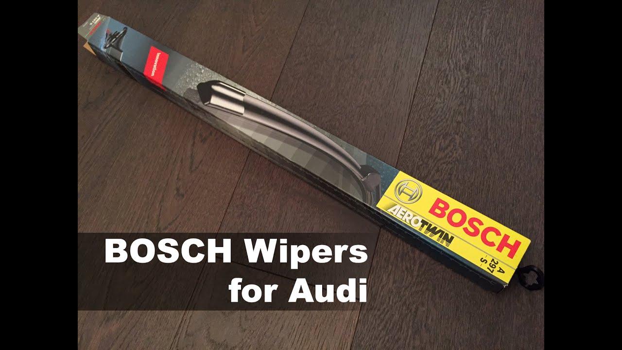 diy audi q5 a4 a5 s5 bosch wiper blade replacement youtube rh youtube com Audi Parts Audi A4 Wiper Arm