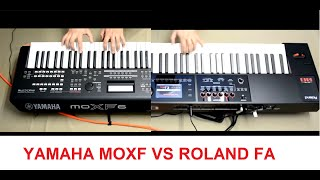 Yamaha MOXF6 VS Roland FA06 jamming by S4K ( Space4Keys Keyboard Solo )