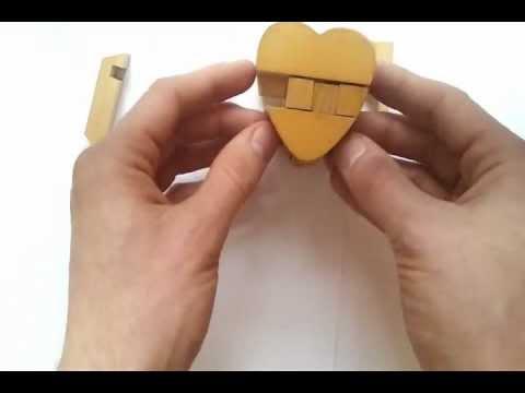 Burr Puzzle сердце-куб