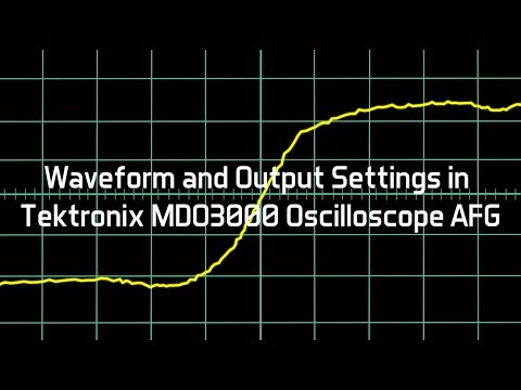 Waveform and Output Settings in Tektronix MDO3000 Oscilloscope AFG