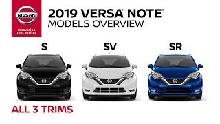 homepage tile video photo for All 2019 Nissan Versa Note Models Explained