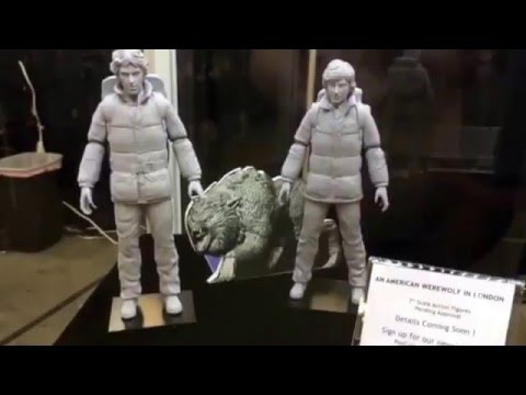 American Werewolf London & Thing Prototype Pop Culture Shock Toys Booth Monsterpalooza