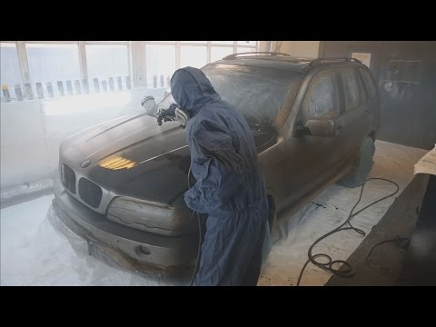 Very Cheap Way To Paint Car / BMW X5 - Покраска за 35 000 рублей