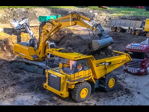 RC trucks & excavators in ACTION! Awesome R/C models!