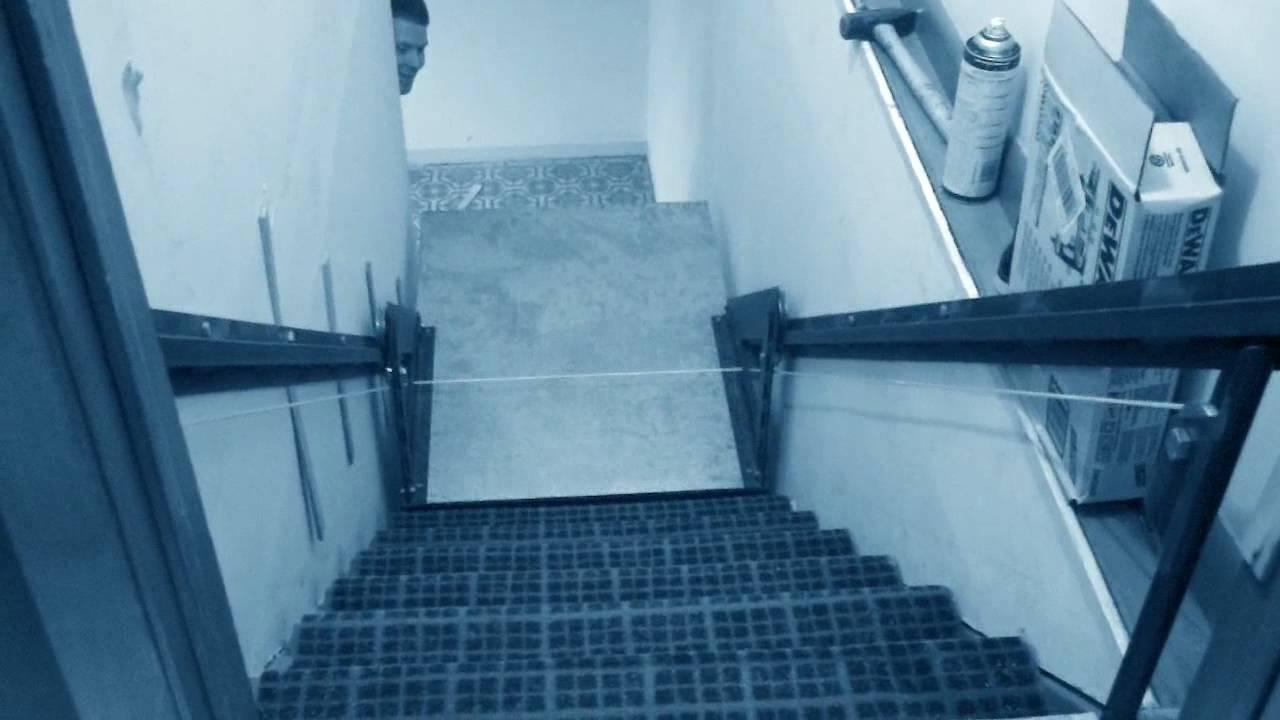 Homemade wheelchair ramp into my basement YouTube