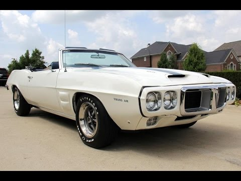 1969 pontiac firebird convertible trans am for sale youtube. Black Bedroom Furniture Sets. Home Design Ideas