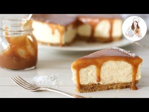 No Bake Salted Caramel Cheesecake Recipe | No Bake Cheesecake Recipe