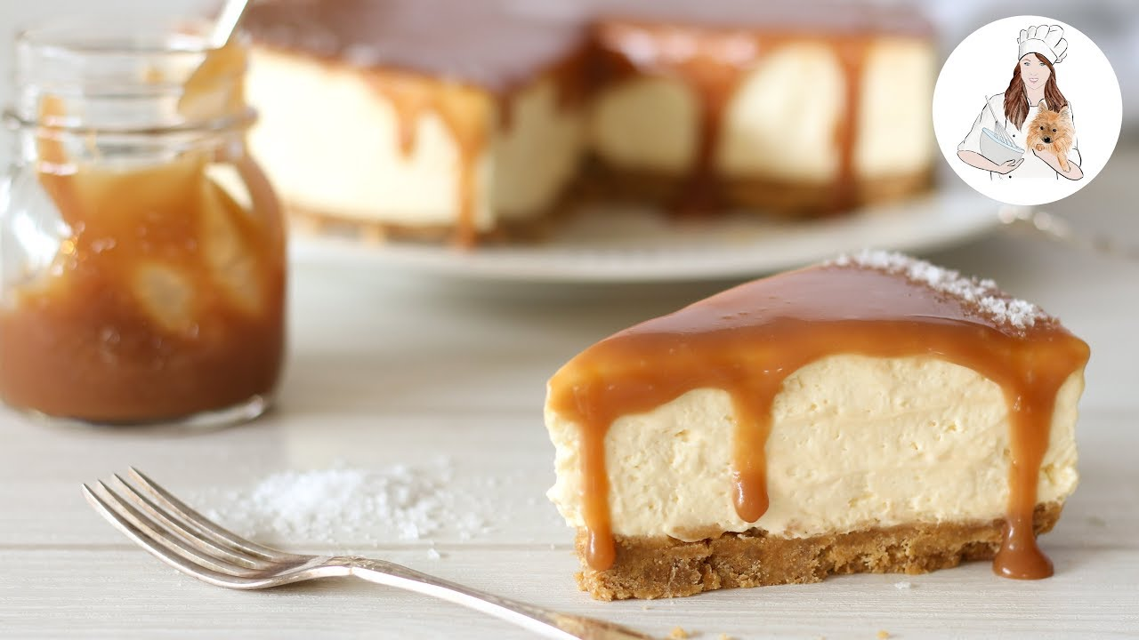No Bake Salted Caramel Cheesecake Recipe | No Bake Cheesecake Recipe