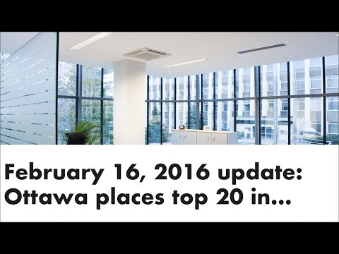 February 26, 2016 update: Ottawa places top 20 in the world
