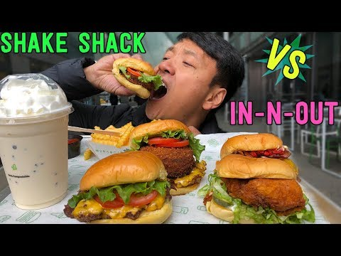 In-N-Out Burger VS. Shake Shack! BEST Fast Food Burger in America