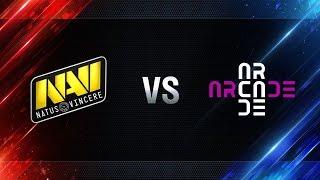 Natus Vincere  vs Arcade eSports - day 3 week 1 Season I Gold Series WGL RU 2016/17