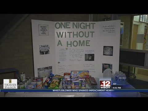Marion County Technical Center hosts annual 'One Night Without a Home' event