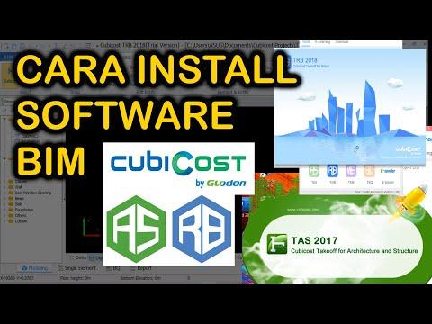Cara Install Software BIM Cubicost TRB dan TAS Glodon