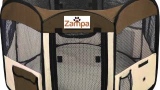 Review Of Zampa Pet Puppy Dog Playpen Exercise Pen Kennel