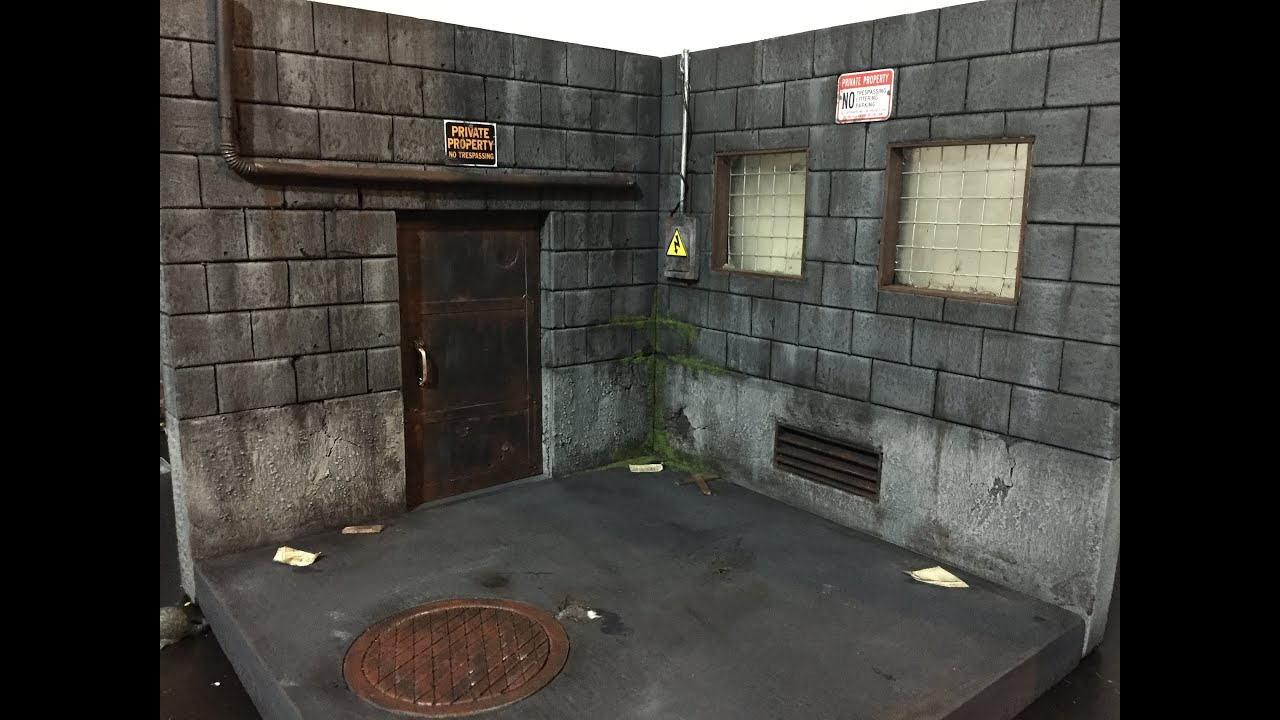 back alley diorama no2 8 youtube