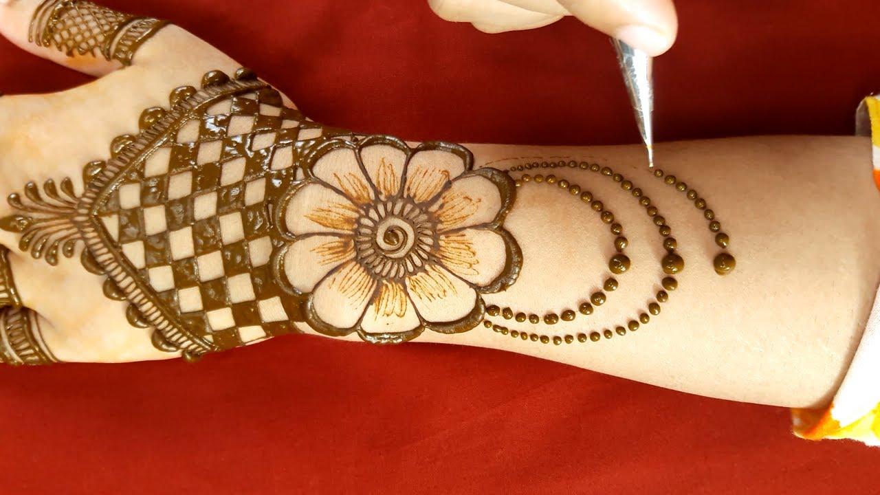 Very easy mehndi design - Back hand beautiful mehendi designs - new mehndi tutorial