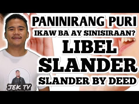 PANINIRANG PURI - LIBEL, SLANDER & SLANDER BY DEED   JEK TV