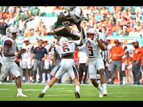 Miami Hurricanes Highlights VS Syracuse