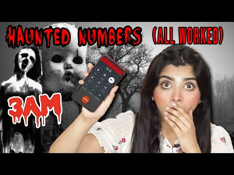 Calling *HAUNTED* Numbers You Should Never Call At 3 AM Challenge| *ALL OF THEM WORKED*????
