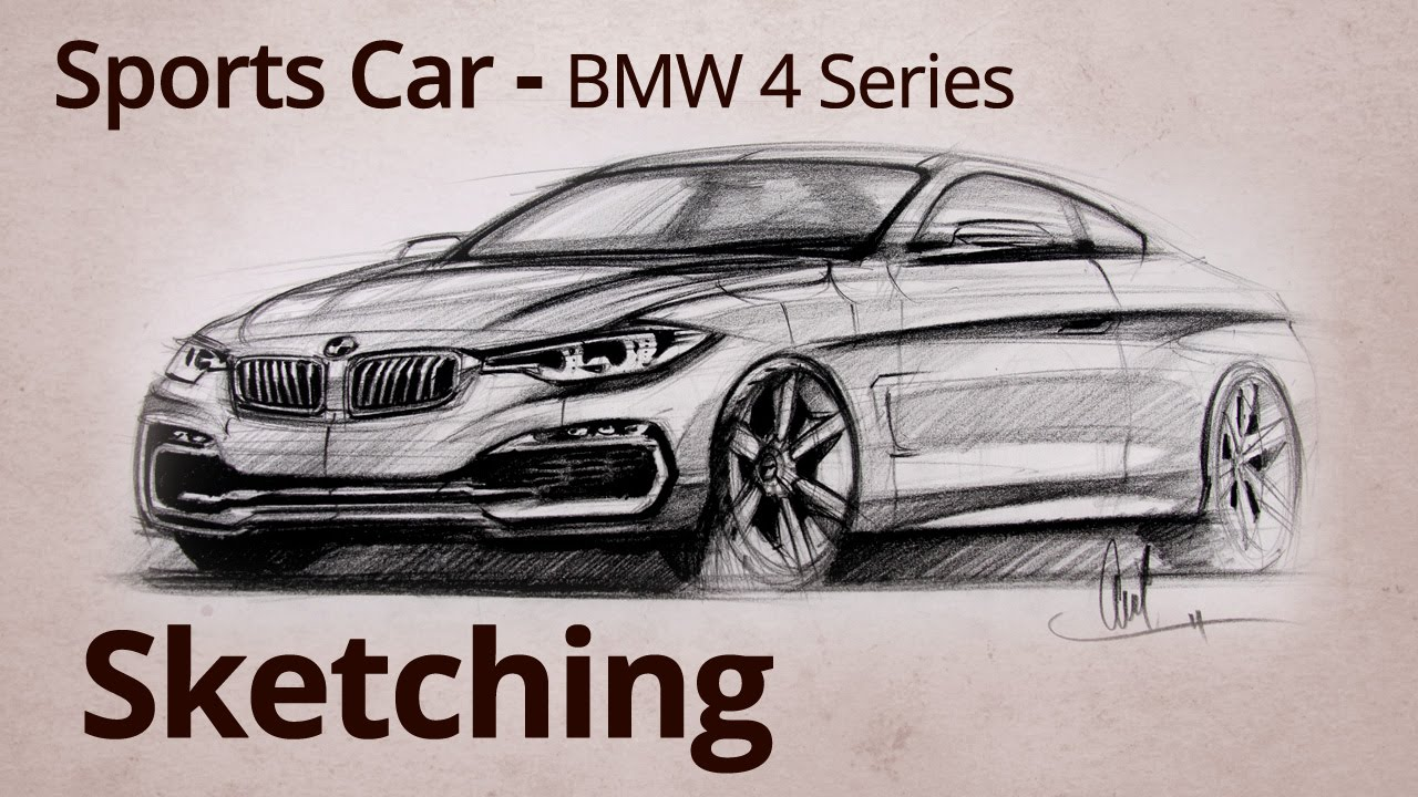 how to draw a bmw car drowing iiim