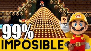 MARIO ULTRA INSTINTO (SPEEDRUNS) - 99% IMPOSIBLES #65 | Super Mario Maker - ZetaSSJ