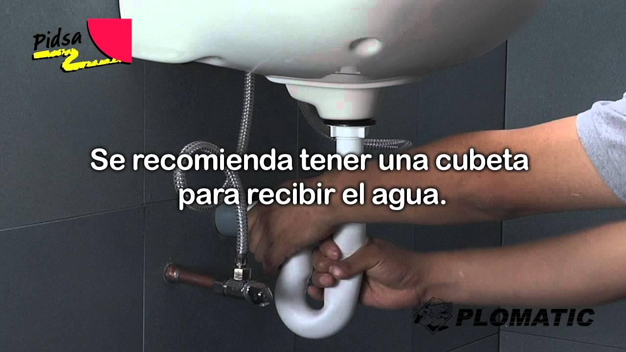 C mo instalar la trampa ajustable para lavabo 32mm youtube - Sifones para lavabos ...