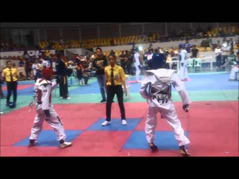 Philippines Taekwondo: 2014 Age Group / 2015 CPJ Cadet Flyweight (-37 kg.) highlights (Rama Gold)