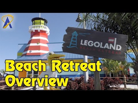 Legoland Beach Retreat tour - lighthouse, coves, pool at Legoland Florida Resort