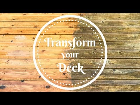 Transform your Deck with Deck Cleaner and Brightener