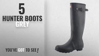 Top 5 Hunter Boots Grey [2018]: Hunter Women's Original Tall Dk Slate Rain Boots - 8 B(M) US