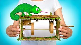 DIY Mainan Anti Stres Bunglon yang Bisa Bergerak