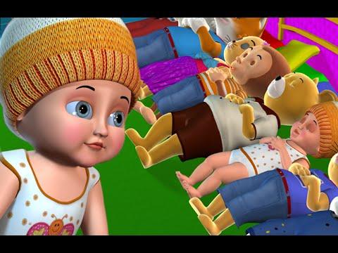 Ten in the Bed Nursery Rhyme | Ten In the Bed Kids' Songs - 3D Nursery Rhymes for Children