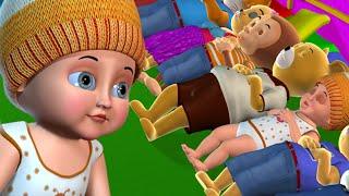 Ten in the Bed Nursery Rhyme   Ten In the Bed Kids' Songs - 3D Nursery Rhymes for Children