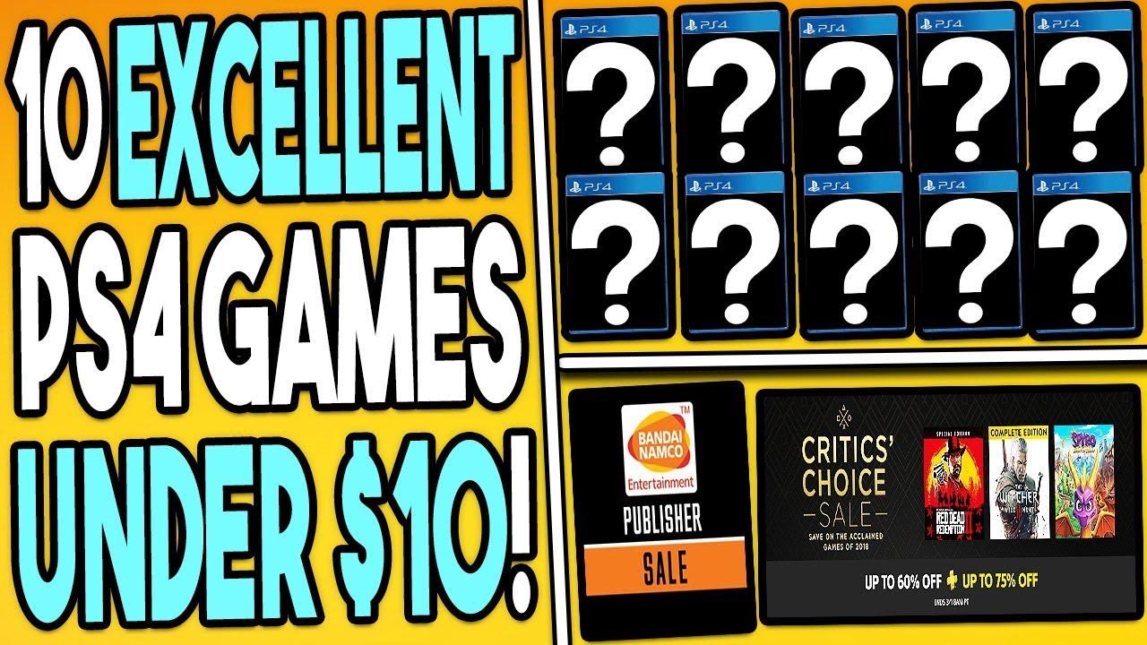 10 EXCELLENT PS4 GAMES UNDER $10 RIGHT NOW - SUPER CHEAP PSN DEALS!