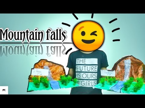 | Mountain falls in waste paper | school project  | Diy series -1 | Msk janfirtho |
