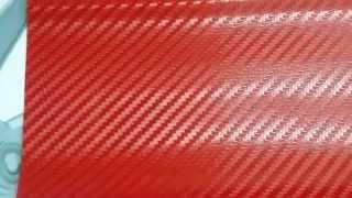 Folie carbon rosie , rosu 3d aut - www.Motorvip.ro 0748405954