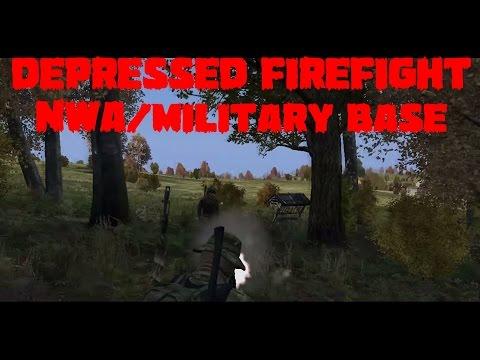 DayZ Standalone - DEPRESSED firefight ever NWA/military base - Day 2 [English] [HD]