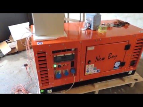 Обзор АВР (автоматики) АУМ-2765. Демонстрация работы дизельного генератора с АВР