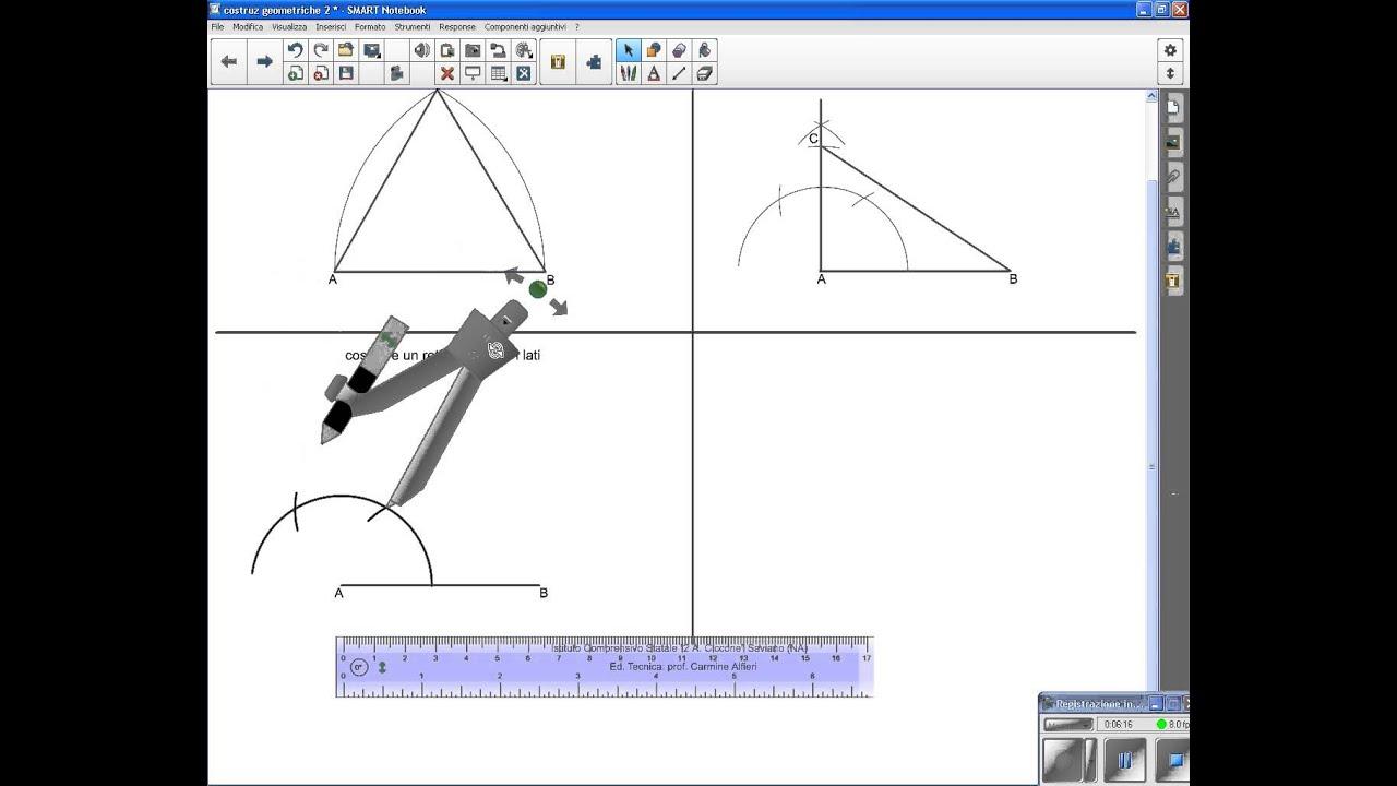 Costruzioni geometriche 2 triangolo rettangolo quadrato for Costruzione di disegni online