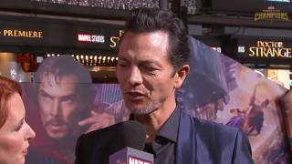 Benjamin Bratt on Working With the Stellar Cast of Marvel's Doctor Strange Red Carpet Premiere