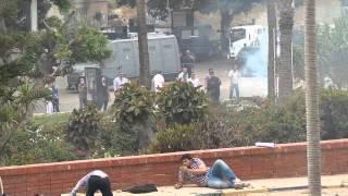 اطلاق الرصاص الحى والخرطوش والغاز على الحرم الجامعى بكلية هندسة الاسكندرية 20-05-2014