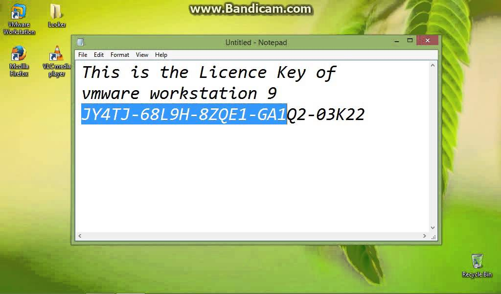 vmware workstation 9 licence key