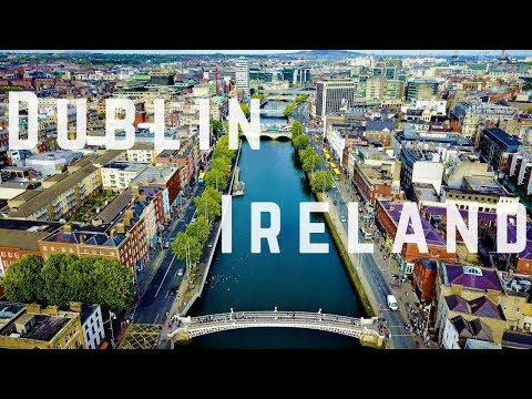 Dublin Ireland 4k Footage (Drone)