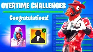 OVERTIME CHALLENGES FREE REWARDS - COMPARTIR EL EVENTO DE AMOR FORTNITE (SNOWFALL SKIN STAGE 4 KEY FILES)