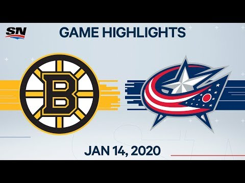 NHL Highlights | Bruins vs Blue Jackets – Jan. 14, 2020